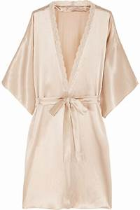 stella mccartney clara whispering lace trimmed silk robe With stella mccartney robe
