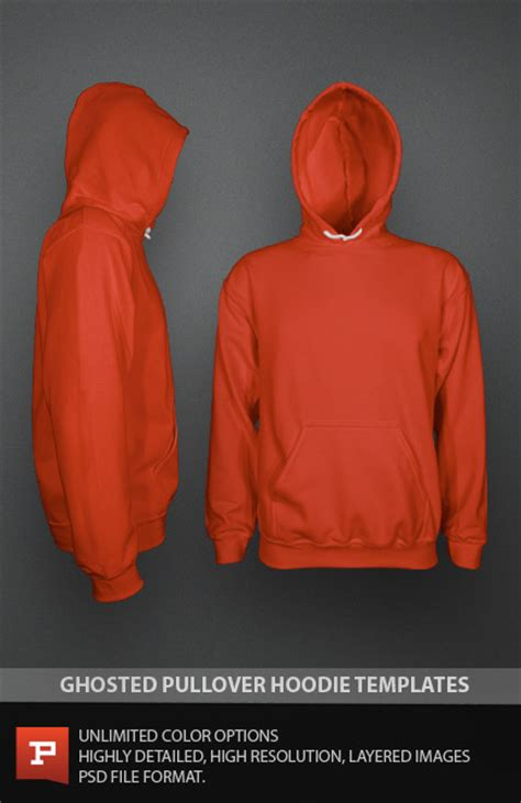 Hoodie Design Template Psd by Photorealistic Custom Pullover Template Psd