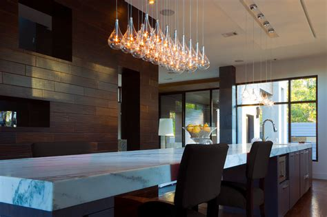 drop lights for kitchen island modern kitchen island light clear teardrop glass linear