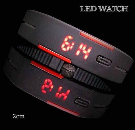 Jam Tangan Gelang Led Sporty Murah jual beli rubber led jam tangan gelang led
