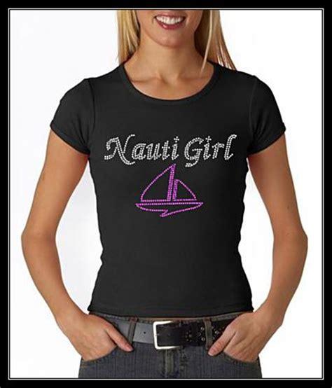 Nauti Girl Boat by Nauti Girl With Boat Rhinestone Bling Shirt