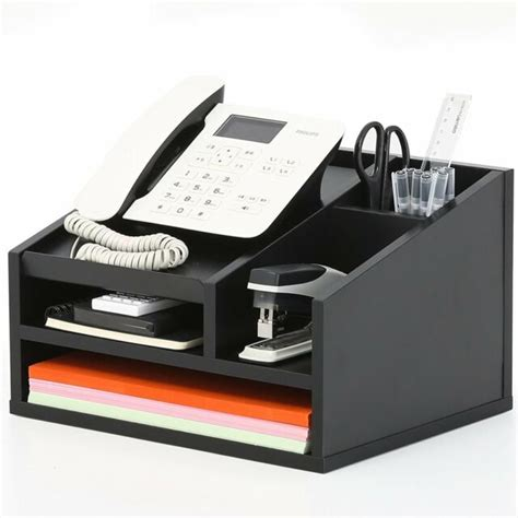 telephone desk stand fitueyes office desktop phone stand desk organizer file