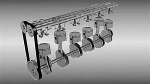 Six Cylinder L6 Engine Animation