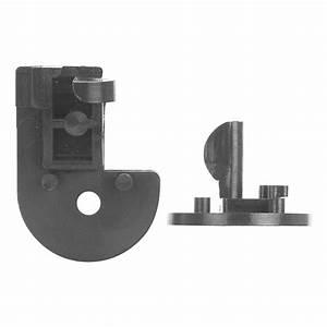 Rolltrak Black Plastic Track Sliding Glass Door Guide
