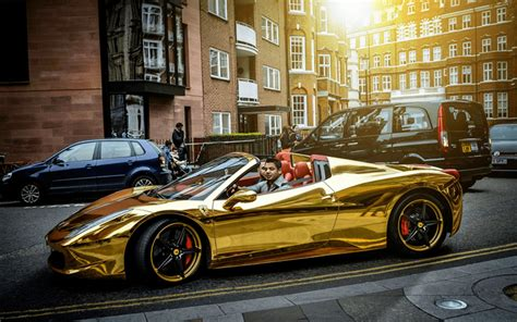 Black and gold proved a popular combination in the seventies, with canadian businessman walter wolf choosing to adorn his cars in the colour scheme. Chrome Gold Ferrari 458 Spider: One of the Most Unique ...