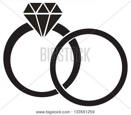 wedding ring diamond vector photo free trial bigstock