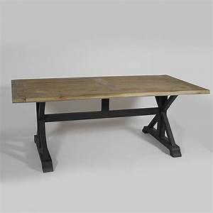 Table En Metal : table en pin pied m tal noir bois achat vente table a manger seule table en pin pied m tal ~ Teatrodelosmanantiales.com Idées de Décoration