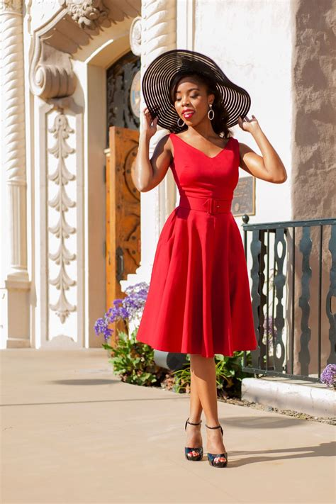 pinup couture havana nights dress  red vintage style