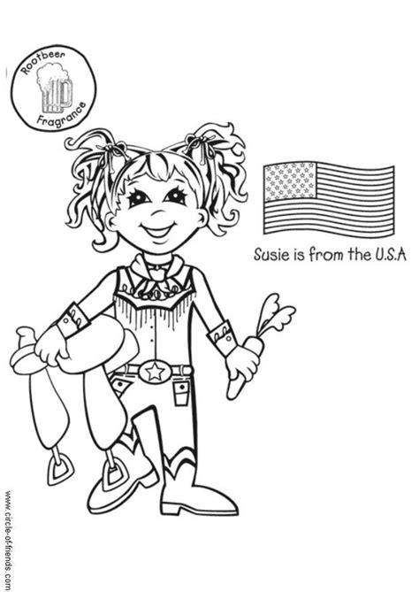 Kleurplaat Menstuatiecyc Us by Kleurplaat Susie Uit Amerika Met Vlag Afb 5651 Images