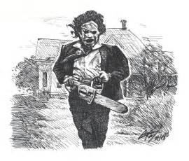 Leatherface Texas Chainsaw Massacre Drawing