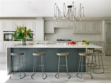 farrow and grey kitchen cabinets light gray kitchen cabinets with gray island 9872