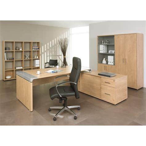 store de bureau bureau de direction sur console bois et acier miami