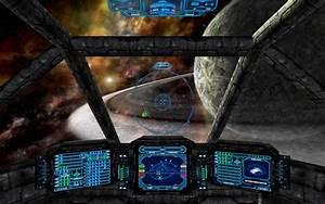 Inside Spaceship Cockpit