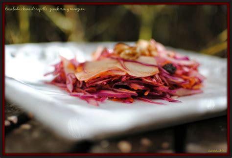 ensalada china de repollo zanahoria  manzana blog las