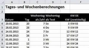 Excel Wochentag Berechnen : excel wochen quartale fiskaljahre berechnen ~ Themetempest.com Abrechnung