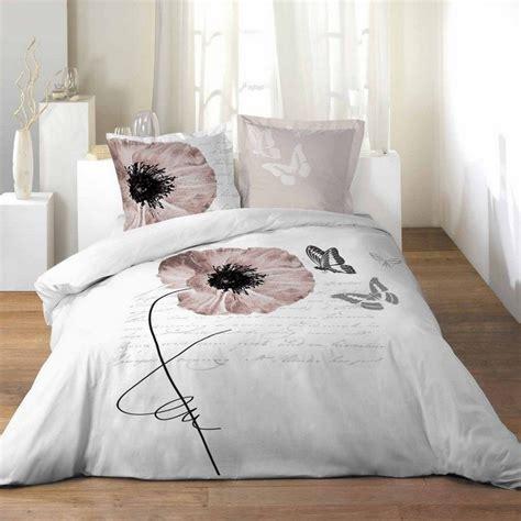 housse de couette grand lit 2 personnes 100 coton 260x240 cm romantique papillon