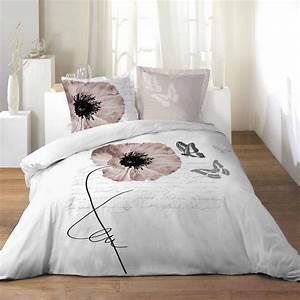 Parure De Lit Romantique : housse de couette grand lit 2 personnes 100 coton 260x240 cm romantique papillon ~ Teatrodelosmanantiales.com Idées de Décoration