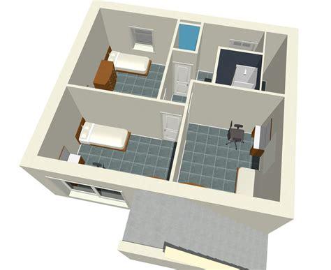 plan de maison 3 chambres descriptif chambres etudiants