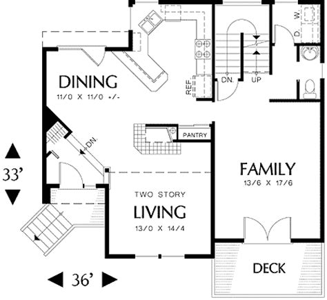 multi level floor plans multi level sloping lot plan 69029am architectural