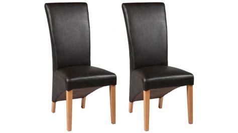 chaises cuir chaises simili cuir brun chaise design pas cher