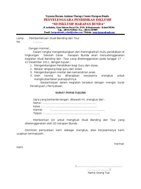 surat persetujuan studi