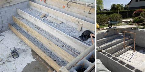 comment construire un escalier de piscine b 233 ton jardipartage