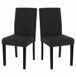 Mobilier table chaise de salle a manger noir for Meuble salle À manger avec chaise salle a manger simili cuir noir