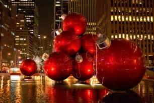 wallpaper christmas new year decoration new york usa city street skyscraper desktop