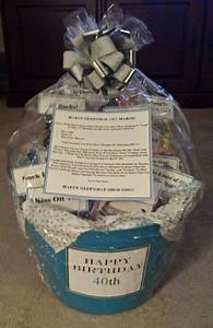 Birthday Frames Online Turning 40 Birthday Gift Basket 40th Birthday Gifts