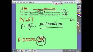 Gas Laws Test Review Part 1 Of 2  Answers To Practice For