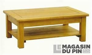 Table Basse Pin Massif : table basse en pin massif avoriaz le magasin du pin ~ Teatrodelosmanantiales.com Idées de Décoration