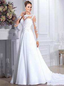 elegant wedding dresses long sleeve chiffon illusion With wedding dress sleeve attachments