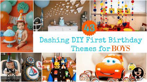 10 1st birthday party ideas for boys tinyme 43 dashing diy boy birthday themes