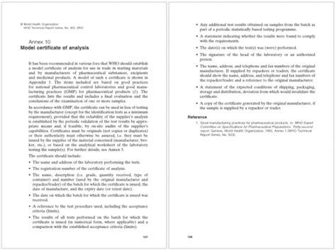 certificate  analysis templates samples word