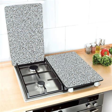 set couteaux de cuisine set 2 couvre plaques protection motifs granit protection