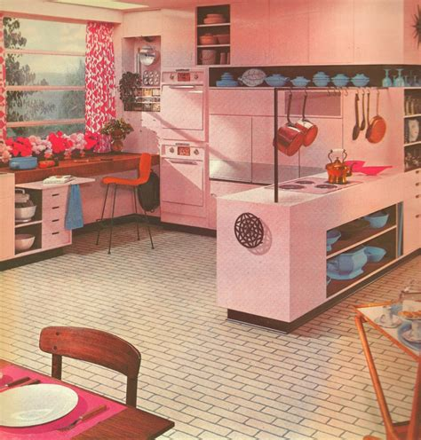 pink tiles kitchen 1000 images about mid century modern kitchens on 1504