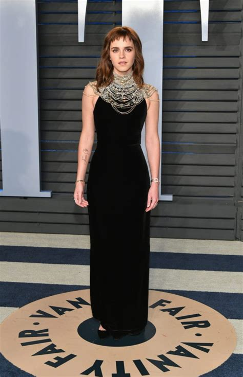 Emma Watson Unveils Misspelled Time Tattoo Oscars