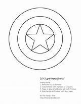 Shield Captain America Pages Coloring Printable Star Colouring Outline Getcoloringpages sketch template