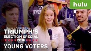 Triumph the Insult Comic Dog Talks to Young Voters ...