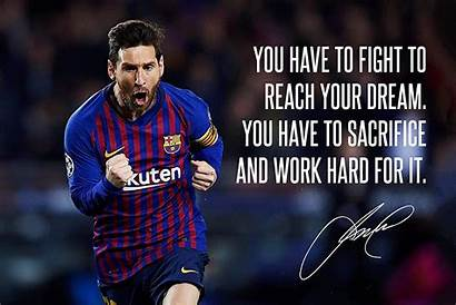 Quotes Football Messi Lionel Soccer Inspirational Wallpapers