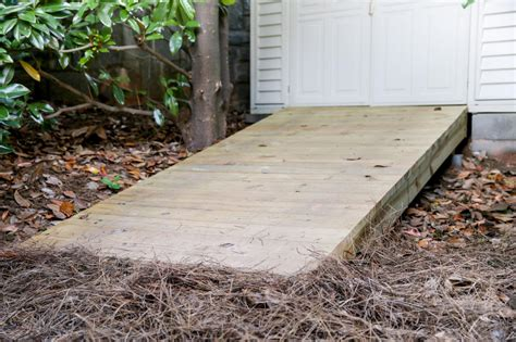 build  wooden ramp  tos diy