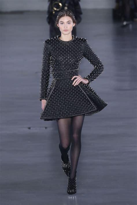 GRACE ELIZABETH at Balmain Runway Show at Paris Fashion ...