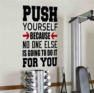 push yourself gym motivational wall decal quote fitness With the best motivational wall decals for gym