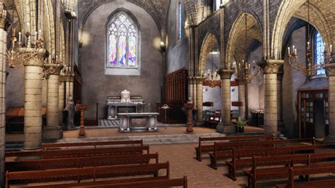 Church Game Environment UDK by amaterasu111 deviantart com