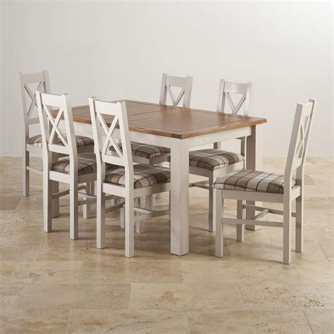 dining room sets rustic kemble extending dining set table 6 charcoal fabric chairs