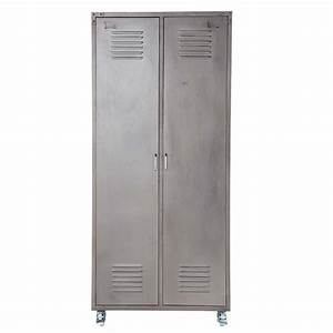 metal locker closet w 85cm loft maisons du monde With maison du monde armoire