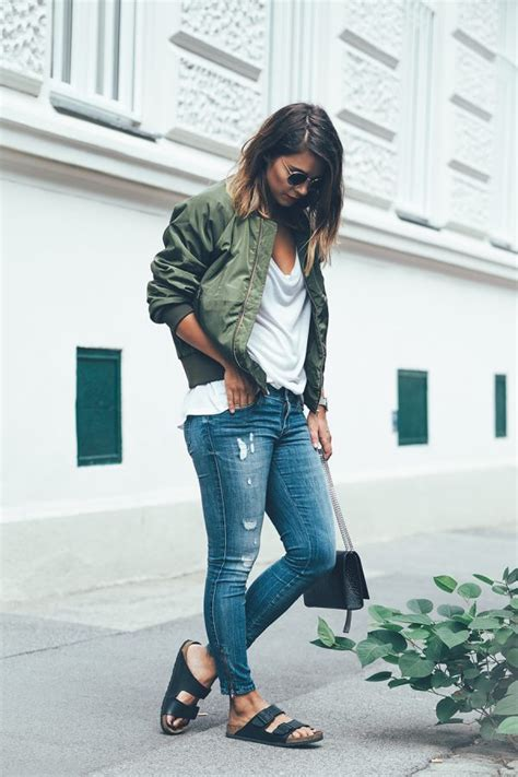 14 Best Ways to Wear Green Bomber Jacket for Women - FMag.com