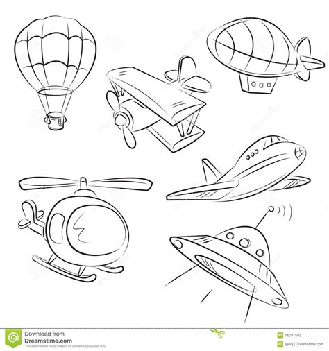 land transportation clipart black and white sketched types air transport stock photography image