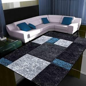 Tapis Salon Blanc : nazar tapis bleu brandalley ~ Teatrodelosmanantiales.com Idées de Décoration