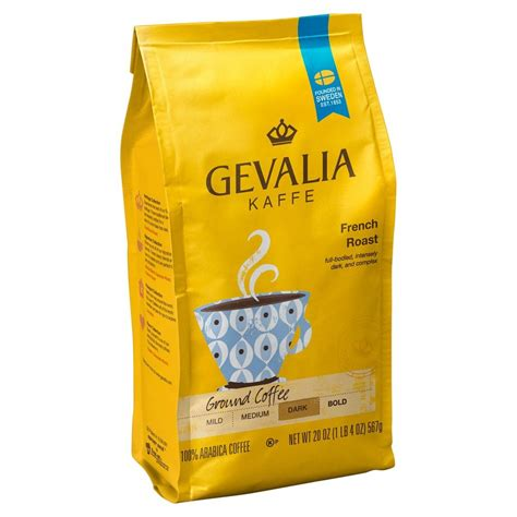 Founded in gavle, sweden in 1853, gevalia espresso roast ground coffees are made from 100% arabica beans sourced from around. Gevalia French Roast Ground Dark Roast Coffee - 20oz   Dark roast coffee, Coffee roasting, Gevalia